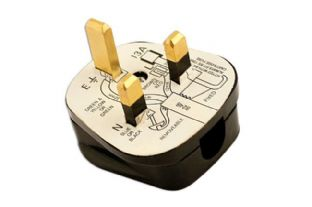 Connect 30677 High Impact Black Plug Tops 13-Amp Pack 10